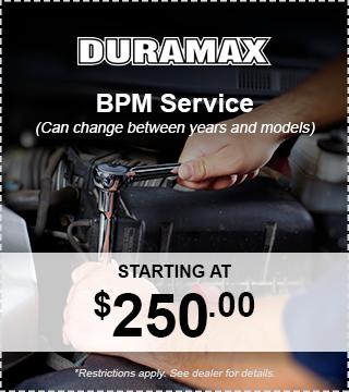 Duramax BPM Service
